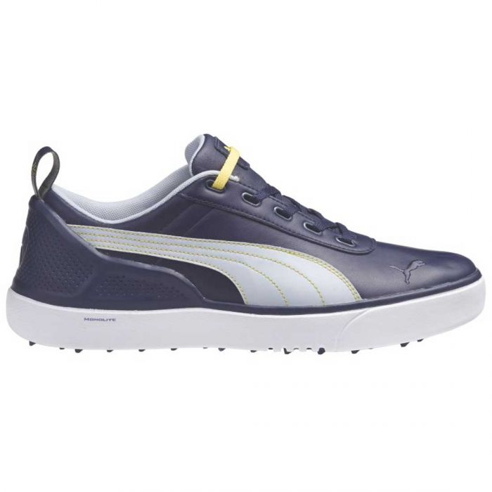 Puma Monolite Spikeless Golf Shoes Blue/Grey/Yellow