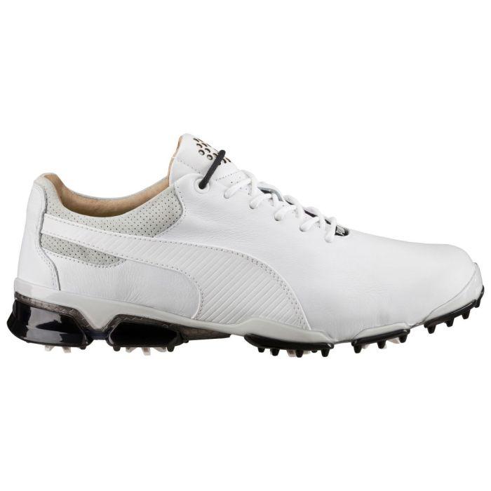 Puma TitanTour Ignite Premium Golf Shoes White/Glacier Grey