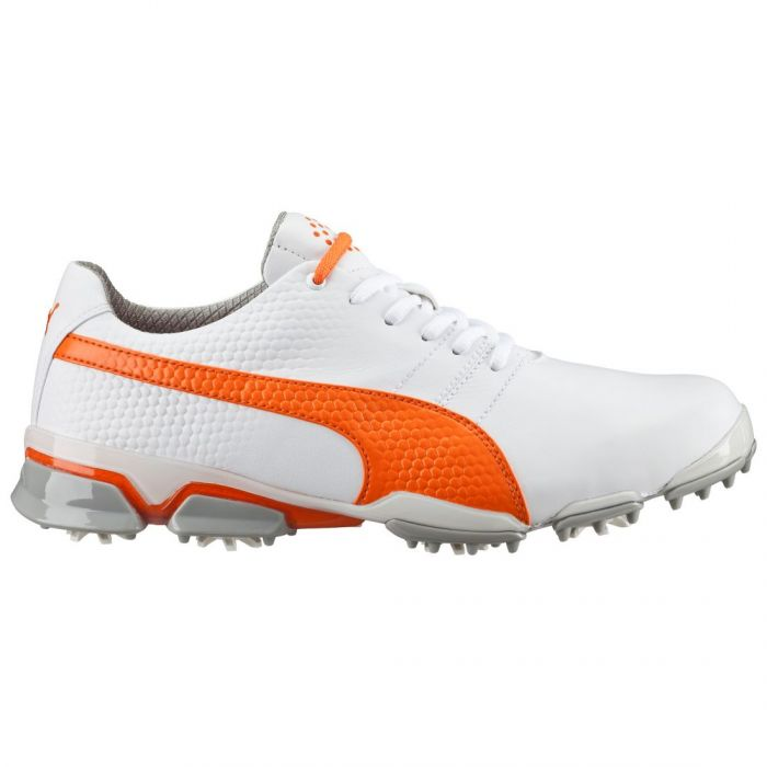 Puma TitanTour Ignite Golf Shoes White/Vibrant Orange