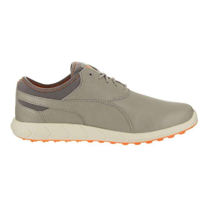 Puma Ignite Spikeless Golf Shoes Drizzle/Vibrant Orange