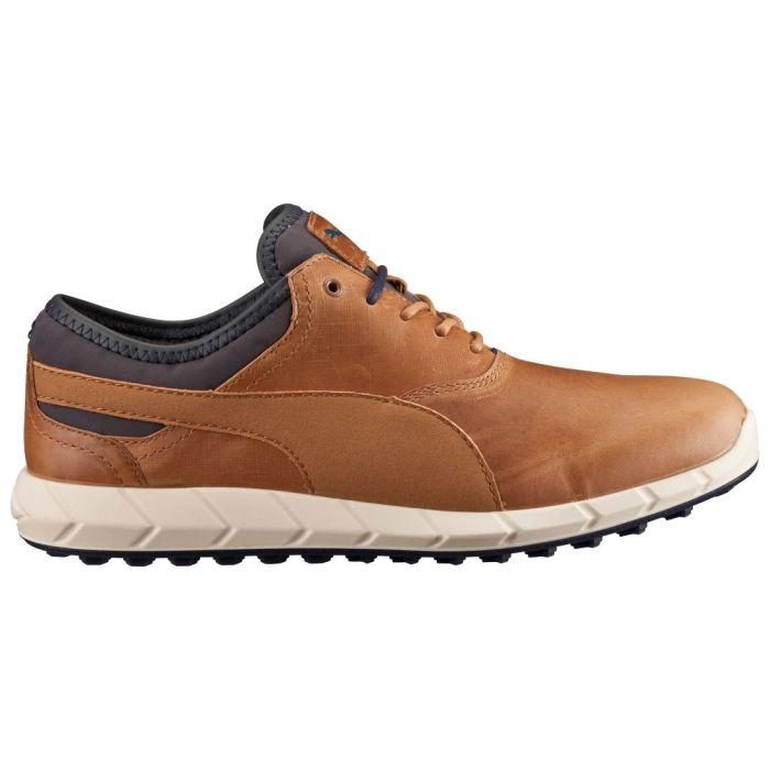 Puma Ignite Spikeless Golf Shoes Chipmunk/Peacoat