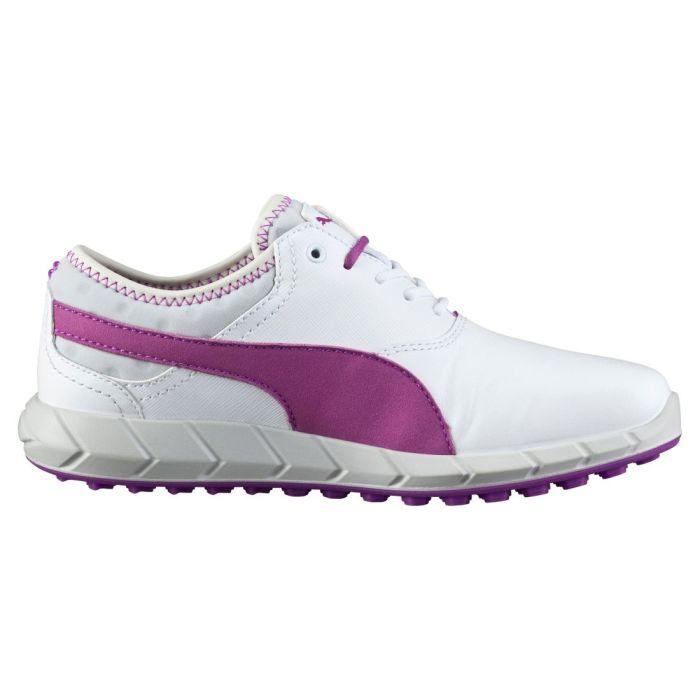Puma Women's Ignite Spikeless Golf Shoes White/Purple Cactus