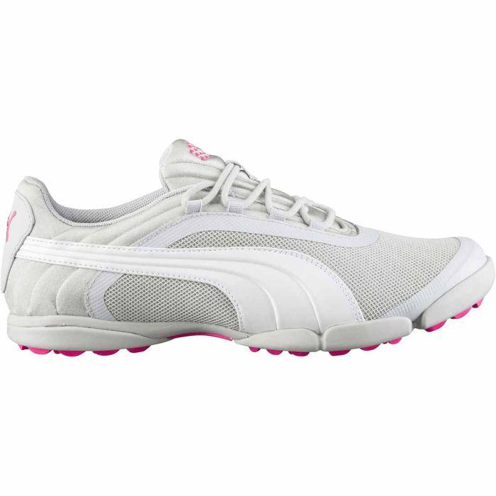 Puma Women's SunnyLite V2 Mesh Golf Shoes Grey Violet/White/Shocking Pink