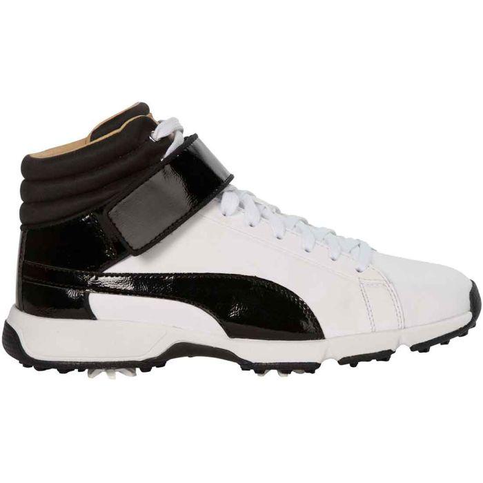 Puma Boys TitanTour Hi-Top Golf Shoes White/Black