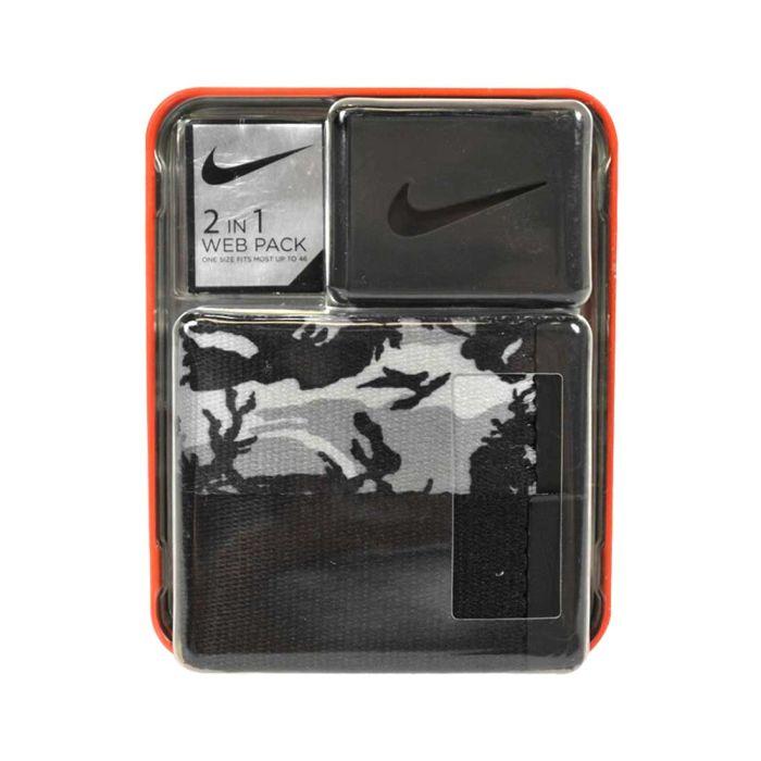 Nike Web Belt 2-Pack Black/Camo