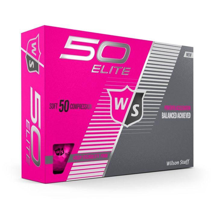 Wilson Fifty Elite Pink Golf Balls