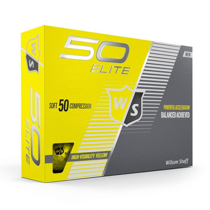 Wilson Fifty Elite Yellow Golf Balls