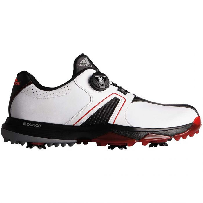 Adidas 360 Traxion Boa Golf Shoes White/Black/Red