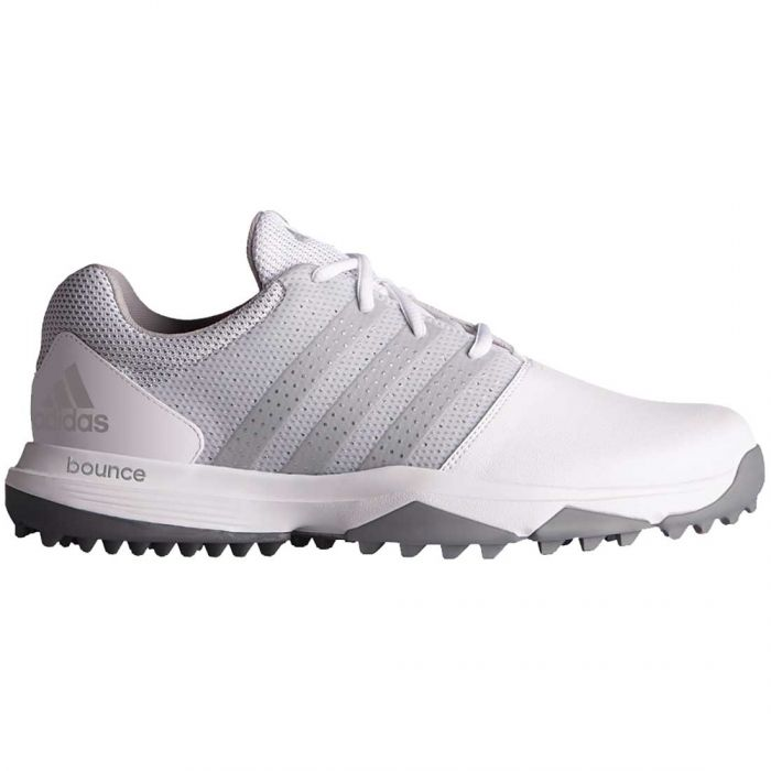 Adidas 360 Traxion Golf Shoes White/Silver