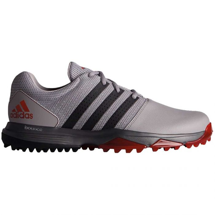 Adidas 360 Traxion Golf Shoes Grey/Black/Red