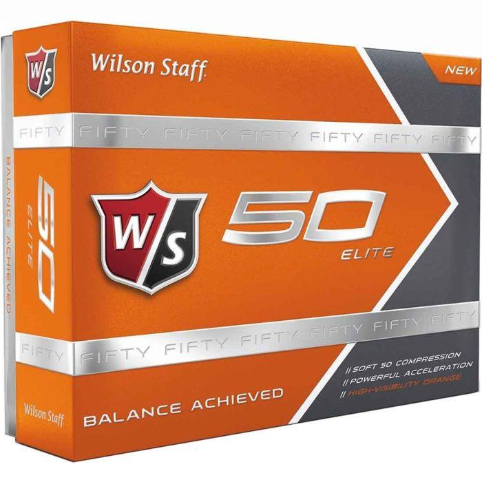 Wilson Staff Prior Generation Fifty Elite Orange Golf Balls