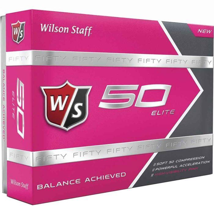 Wilson Staff Prior Generation Fifty Elite Pink Golf Balls