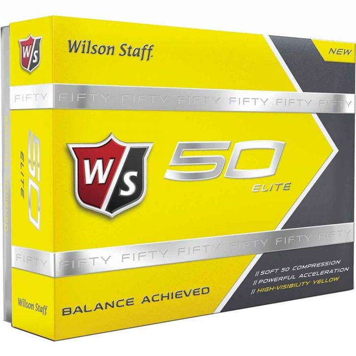 Wilson Staff Prior Generation Fifty Elite Yellow Golf Balls