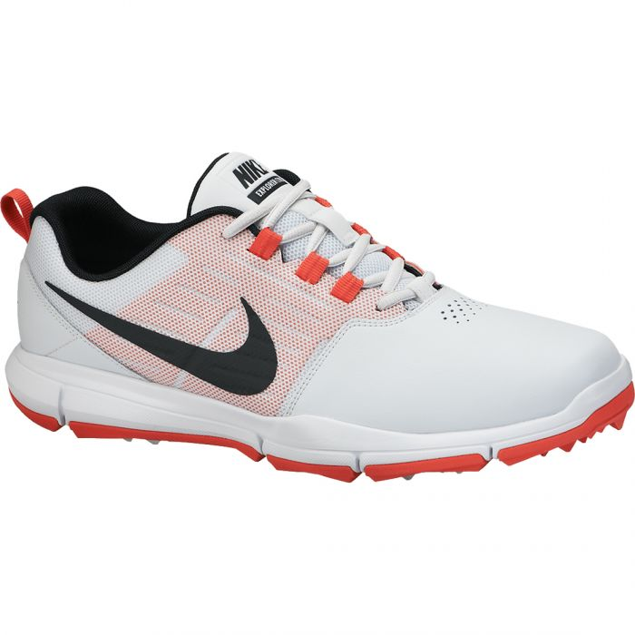 Nike Explorer SL Golf Shoes Platinum/Red
