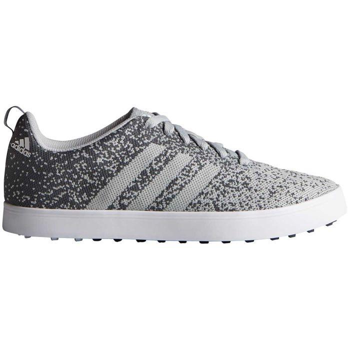 Adidas Adicross Primeknit Golf Shoes Clear Onix/White