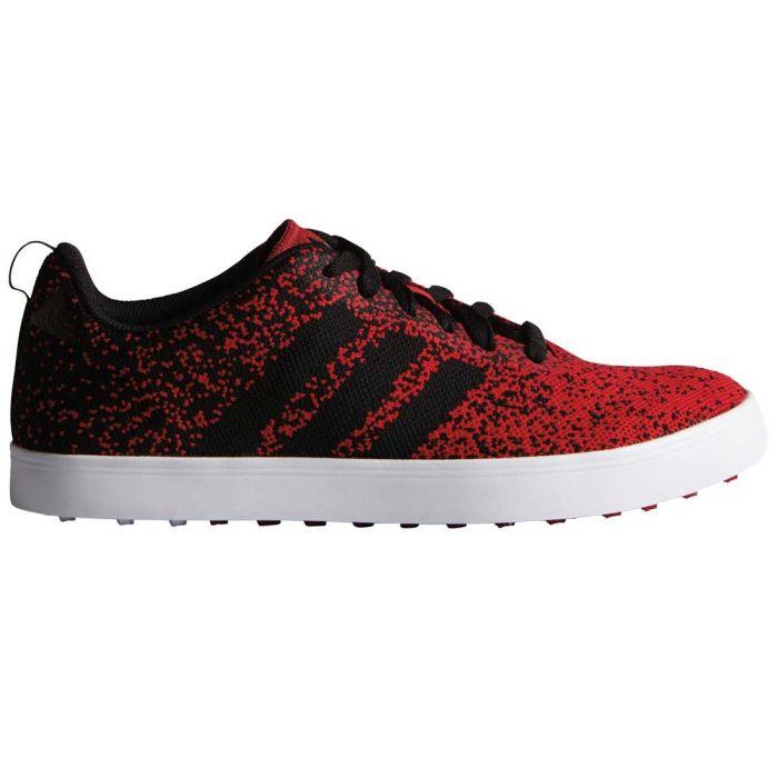 Buy Adidas Adicross Primeknit Golf Shoes Red/Black/White | Golf ...