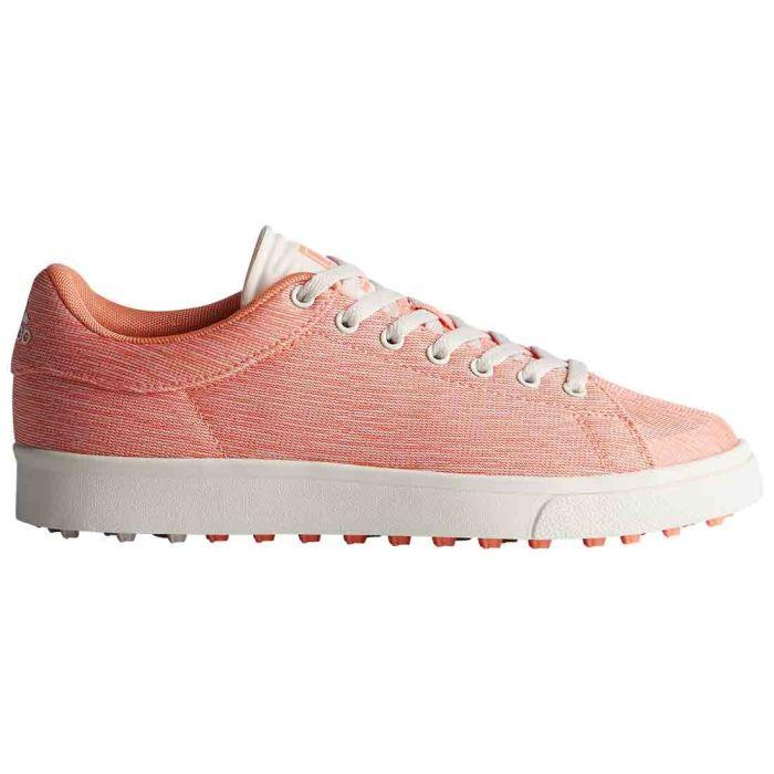 Adidas Juniors AdiCross Classic Golf Shoes Chalk Coral/White