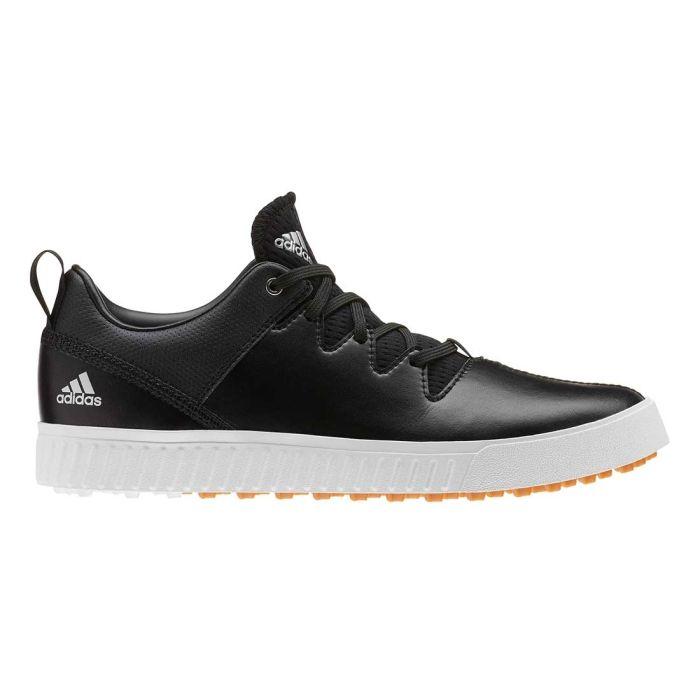Adidas Juniors Adicross PPF Golf Shoes Black/White