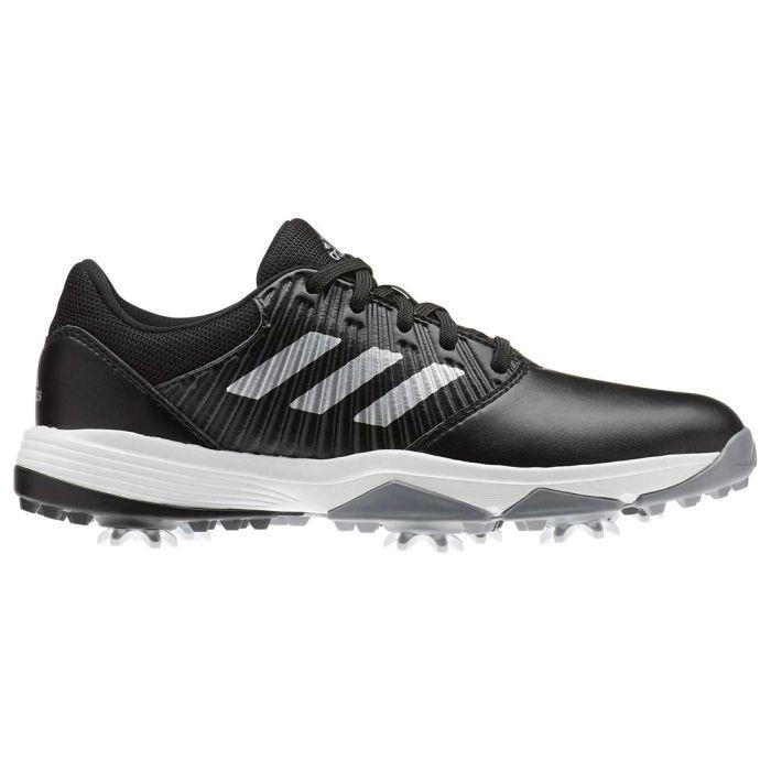 Adidas Juniors CP Traxion Golf Shoes Black/Silver
