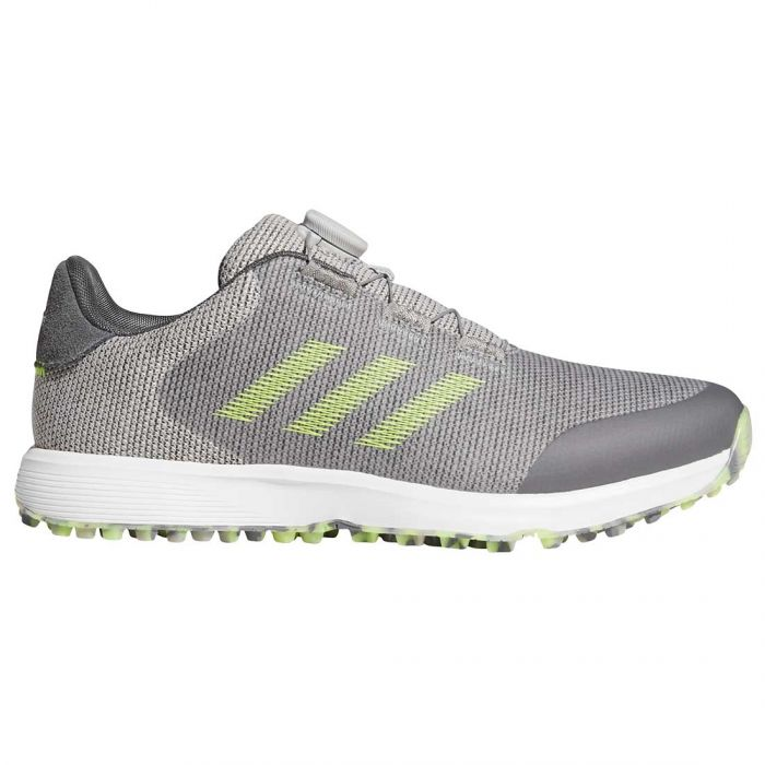 Adidas S2G Boa Golf Shoes Grey Two/Solar Yellow