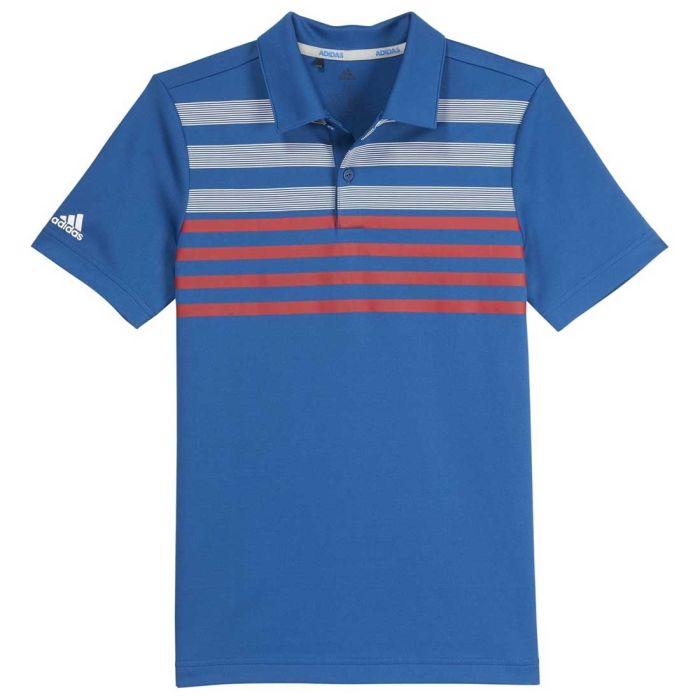 Adidas SS19 Boys Chest Stripe Fashion Polo
