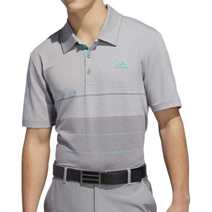 Adidas SS19 Ultimate365 Heathered Stripe Polo