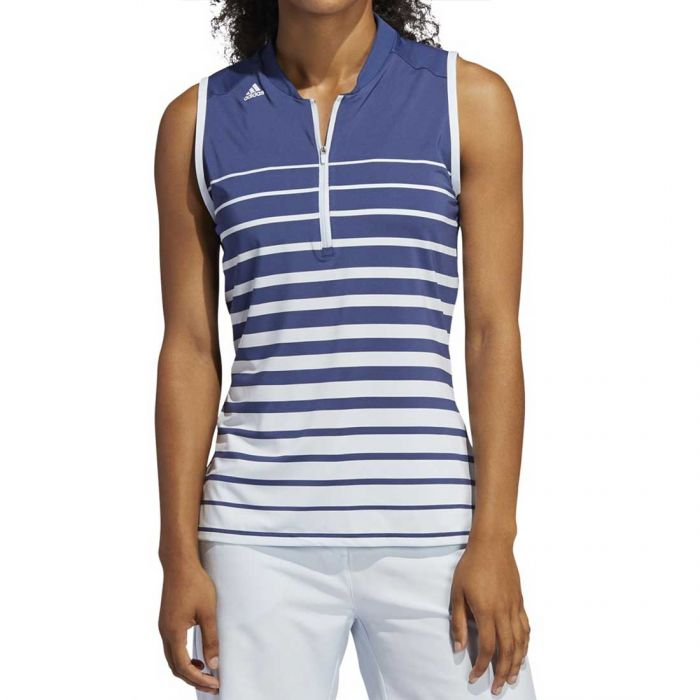 Adidas SS20 Women's Engineered Stripe Sleeveless Polo