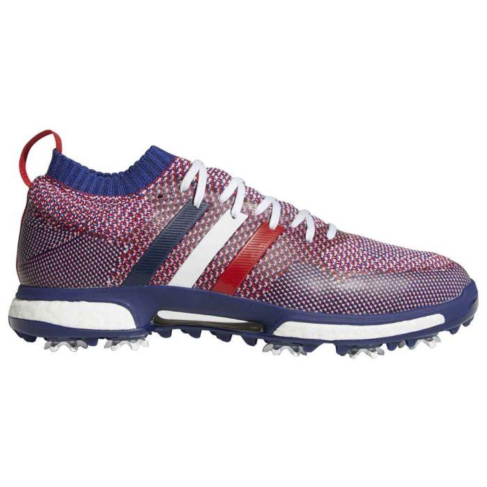 Adidas Tour360 Knit Golf Shoes White/Scarlet