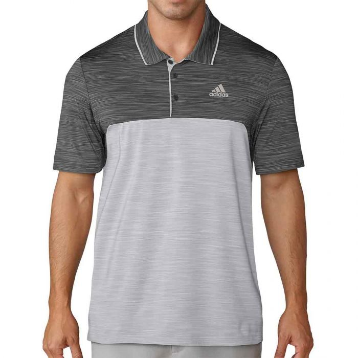 Adidas 2018 Ultimate365 Heather Blocked Polo