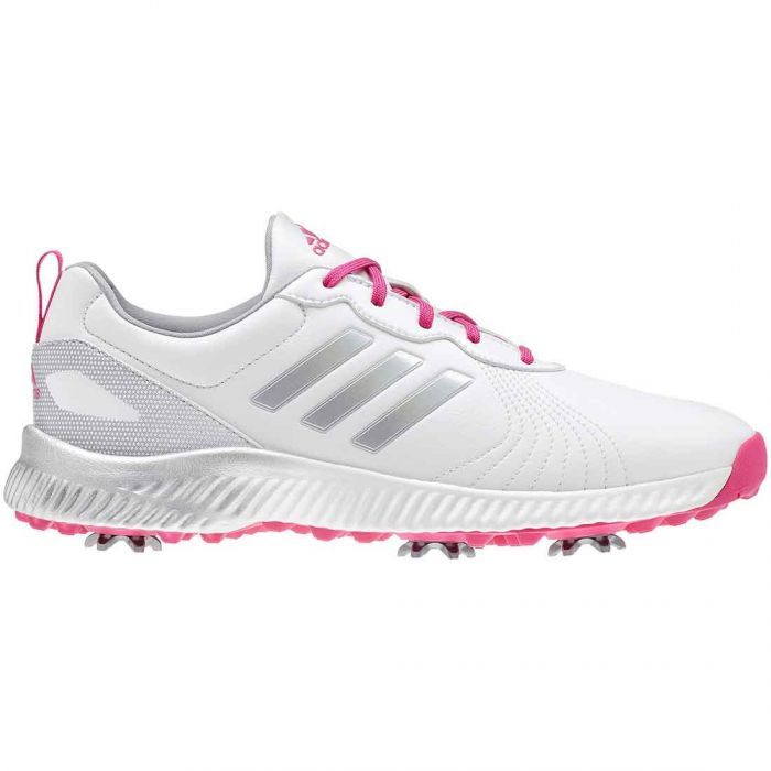 Adidas Women's Response Bounce Golf Shoes White/Real Magenta