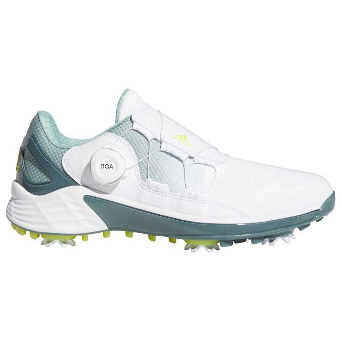 Adidas Women's ZG21 Boa Golf Shoes White/Acid Yellow