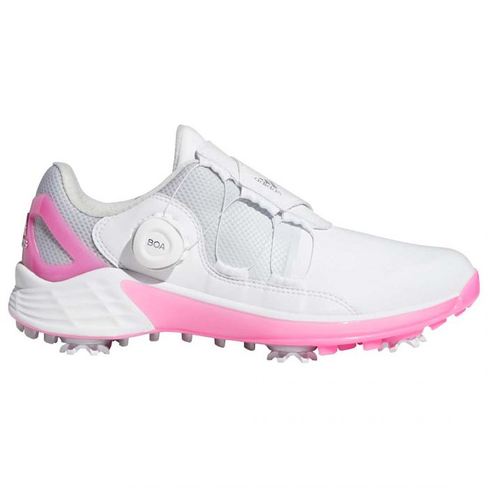 Adidas Women's ZG21 Boa Golf Shoes White/Scream Pink