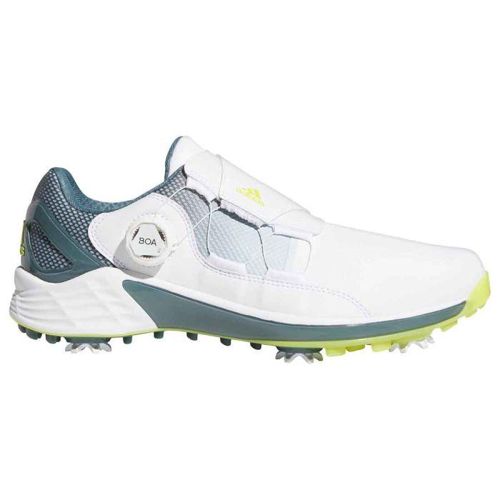 Adidas ZG21 Boa Golf Shoes White/Acid Yellow