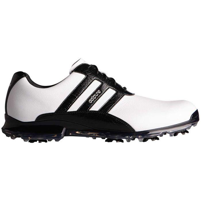 Adidas AdiPure Classic Golf Shoes White/Black