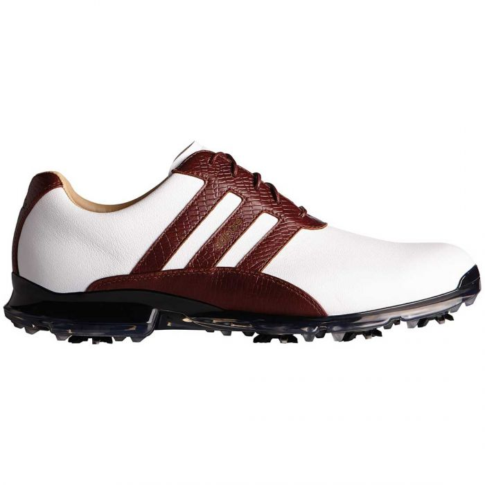 Adidas AdiPure Classic Golf Shoes White/Redwood