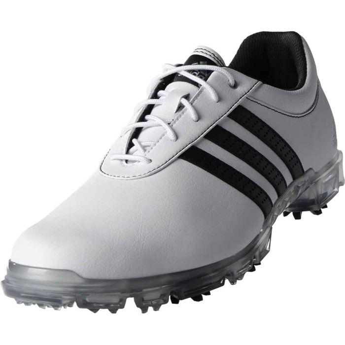 Buy Adidas AdiPure Flex Golf Shoes White/Black/Silver | Golf Discount