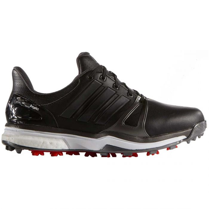 Adidas AdiPower Boost 2 Golf Shoes Black/Silver/Red