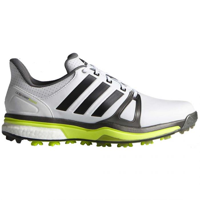 Adidas AdiPower Boost 2 Golf Shoes White/Silver/Yellow