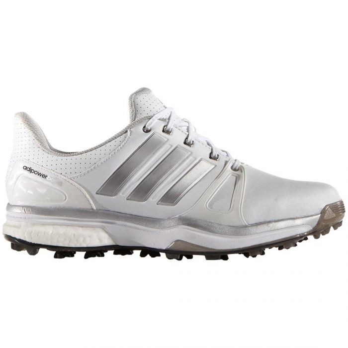 Adidas AdiPower Boost 2 Golf Shoes White/Silver/Black