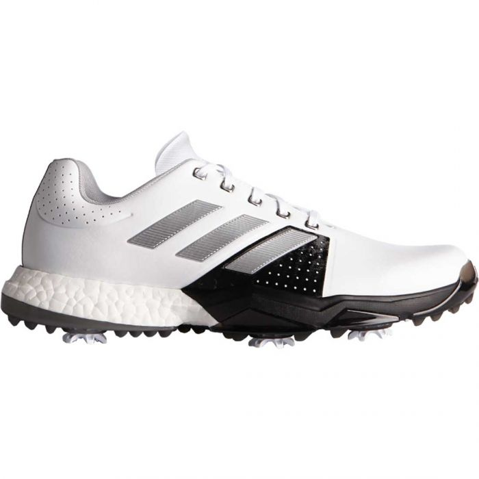 Adidas AdiPower Boost 3 Golf Shoes White/Black/Silver