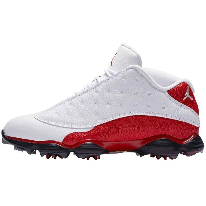 Nike Air Jordan 13 Golf Shoes White/University Red