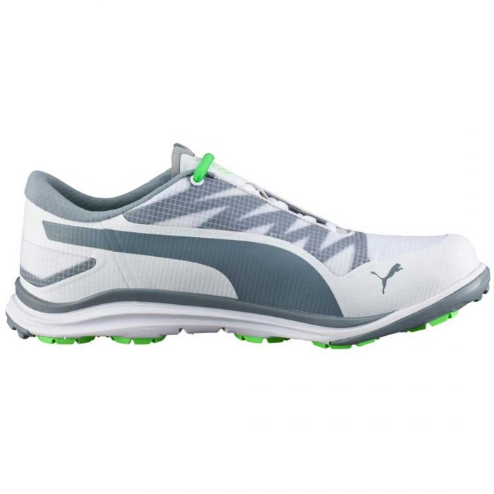 Puma BioDrive Golf Shoes White/Grey/Green Gecko