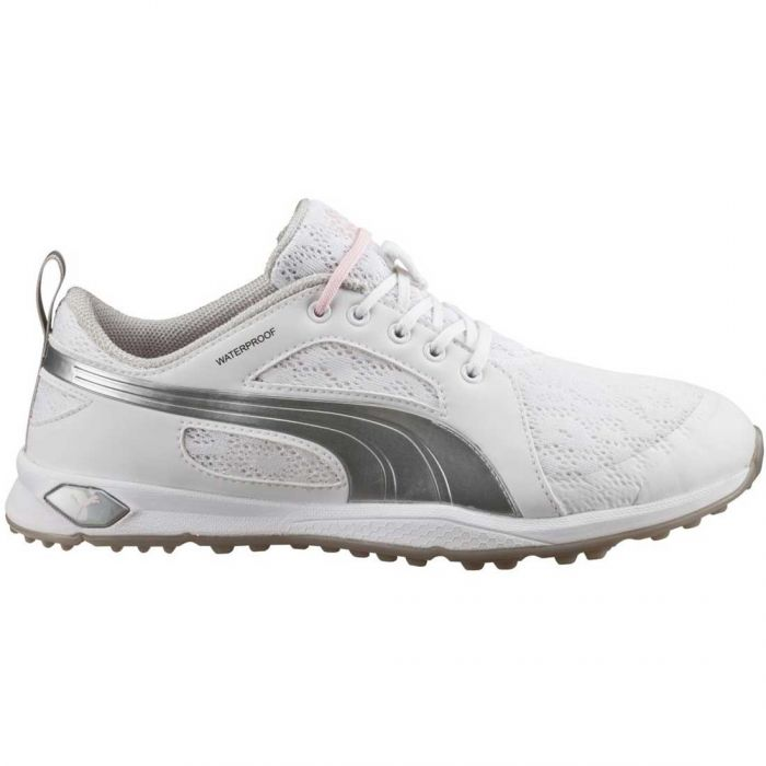Puma Women's BioFly Mesh Golf Shoes White/Silver