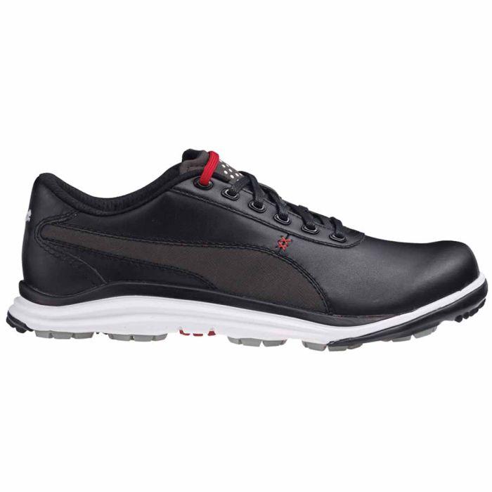 Puma BioDrive Leather Golf Shoes Black/White/Red