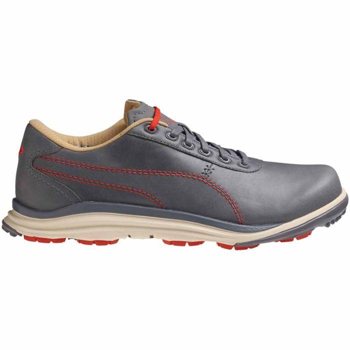 Puma BioDrive Leather Golf Shoes Grey/Orange