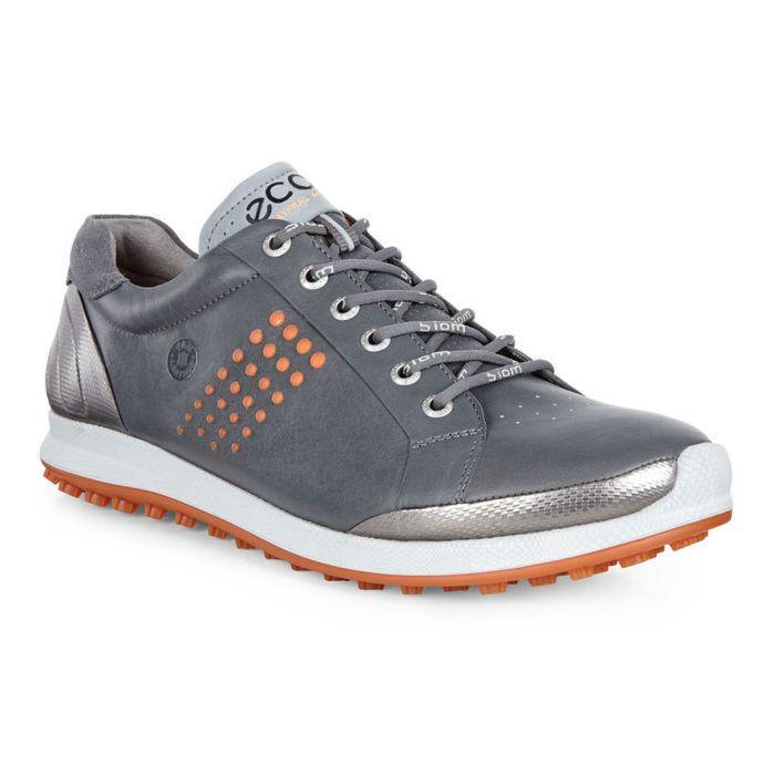 Ecco BIOM Hybrid 2 Golf Shoes Dark Shadow/Orange