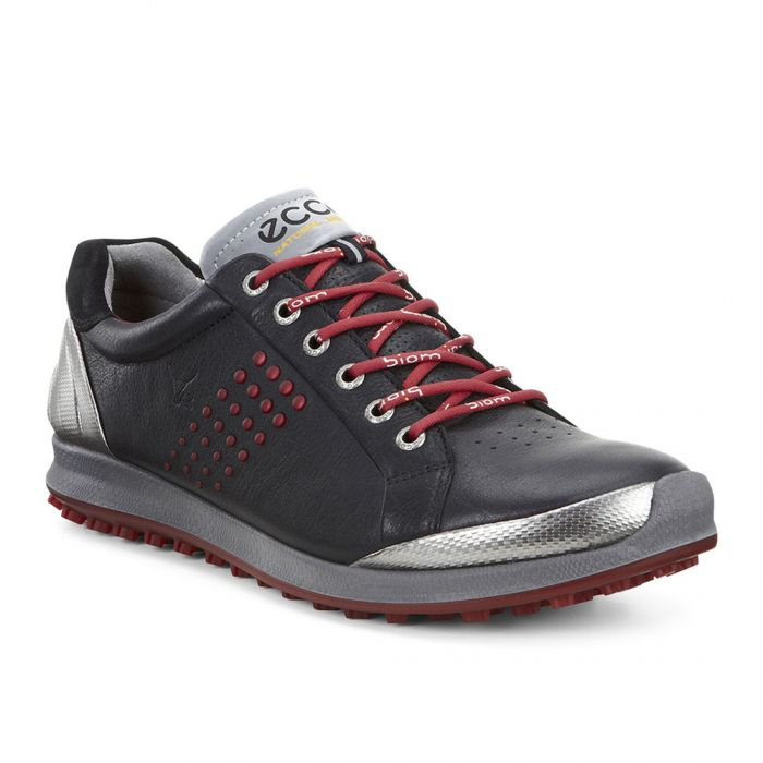 Ecco BIOM Hybrid 2 Golf Shoes Black/Brick