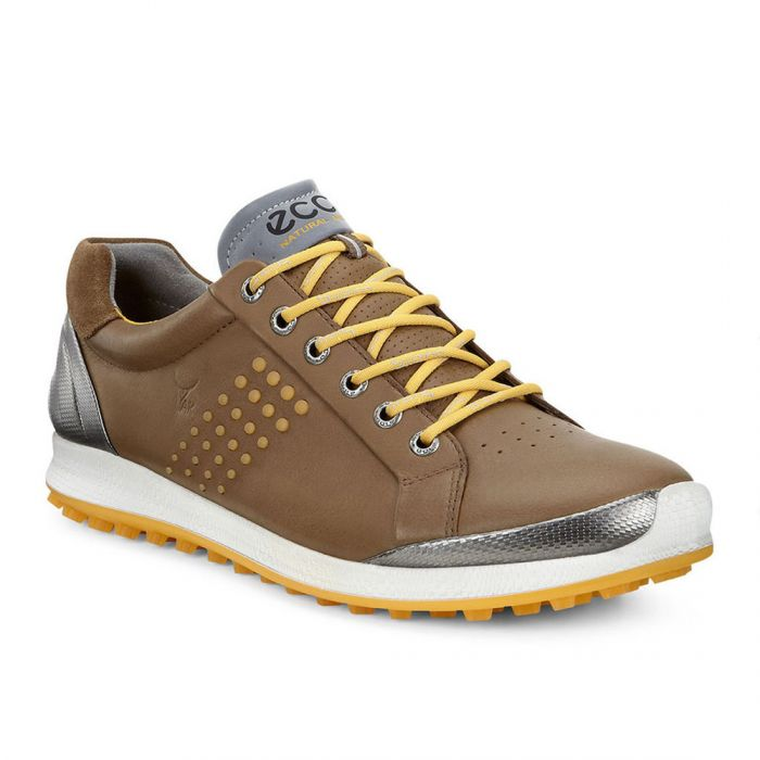 Ecco BIOM Hybrid 2 Golf Shoes Camel/Fanta