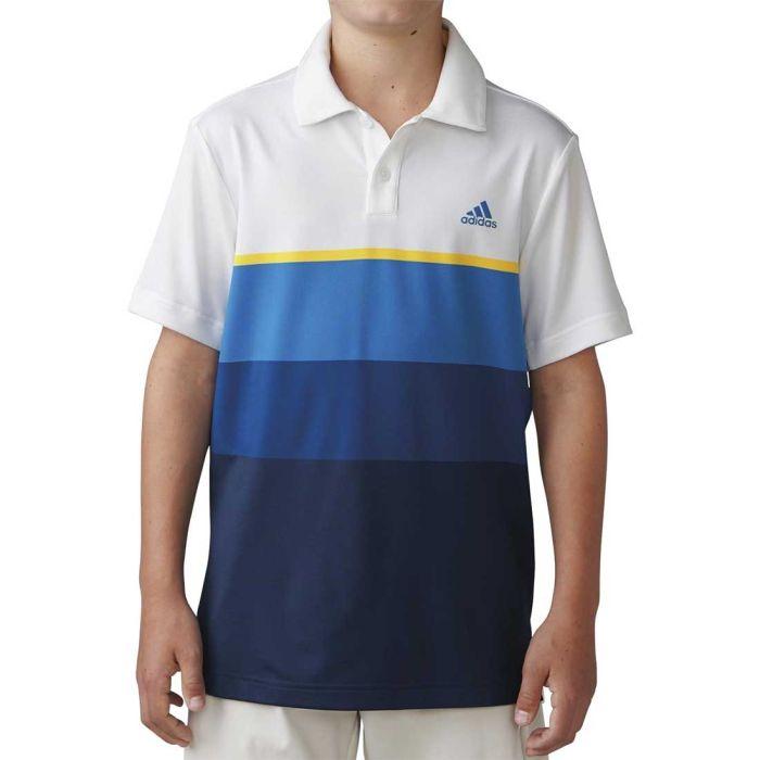 Adidas Boys Climacool Engineered Stripe Polo