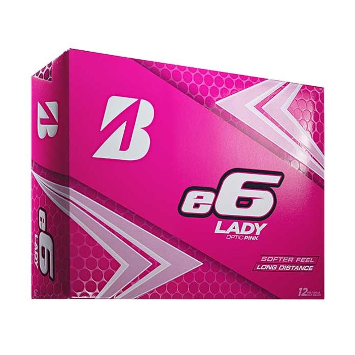 Bridgestone Women's e6 Lady Pink Golf Balls